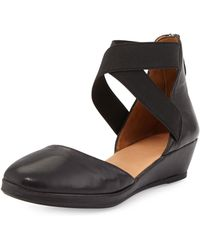 Gentle Souls - Noa Leather D'orsay Wedge - Lyst