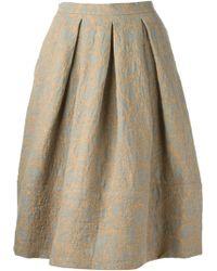 Societe Anonyme Brocade Box Pleat Skirt - Lyst