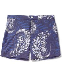 Façonnable - Azure Printed Mid-Length Swim Shorts - Lyst
