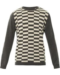 Chinti And Parker Chequered Intarsiaknit Cashmere Sweater - Lyst