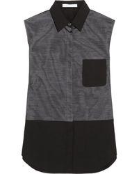 Alexander Wang Paneled Cottonpoplin Shirt - Lyst