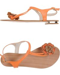 SuperTrash Thong Sandal orange - Lyst