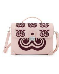 Holly Fulton - X Petek 1855 Pink & Maroon Large Swirl Trunk Bag - Lyst
