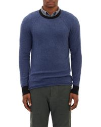James Perse Contrast Cuff Pullover - Lyst