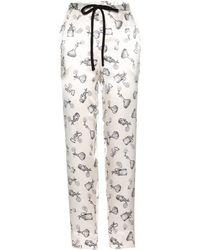 Issa - Nina Printed Silk Pants - Lyst