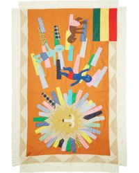 Junya Watanabe - Multicolor Graphic Patchwork Scarf - Lyst