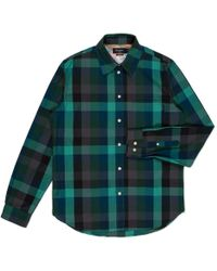 Paul Smith Green Large Check Slub-Chambray Shirt - Lyst