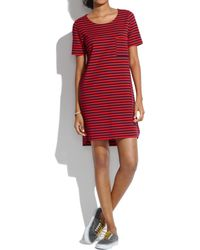 Madewell Striped Tshirt Dress - Lyst