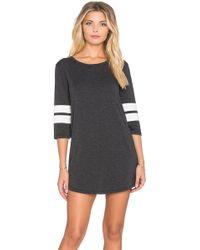 Spiritual Gangster - Striped-Sleeve T-Shirt Dress - Lyst