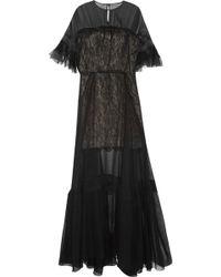 Antonio Berardi Silk-Chiffon And Lace Gown - Lyst