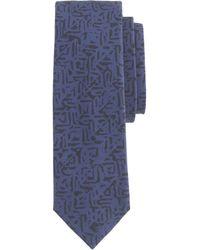 J.Crew Italian Cotton Tie In Geometric Print - Lyst