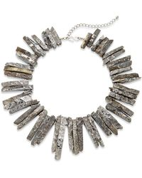 Kenneth Jay Lane Frosted Stick Collar Necklace - Lyst