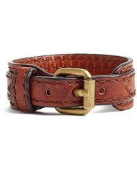 Frye - 'michelle' Leather Bracelet - Cognac - Lyst