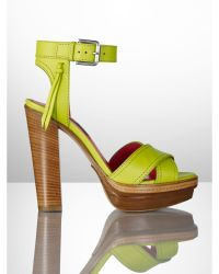 Ralph Lauren Collection Nappa Gerine Sandal - Lyst