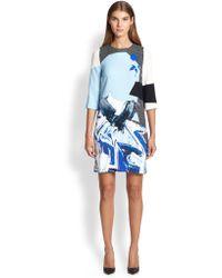 Prabal Gurung Abstract-Print Shift Dress - Lyst