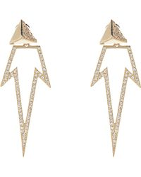 Ileana Makri Diamond Gold Pyramid Bermuda Star Earrings - Lyst