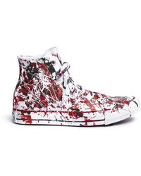 Rialto Jean Project - One Of A Kind Hand-painted Splash High Top Sneakers - Sz 38 - Lyst