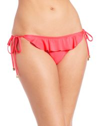 Shoshanna | Ruffled String Bikini Bottom | Lyst