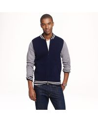 J.Crew Wallace Barnes Baseball Sweater Jacket - Lyst