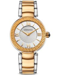Versace Womens Leda Gold Ion Plated and Stainless Steel Watch 38mm - Lyst