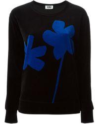 Sonia By Sonia Rykiel Velvet Flower Print Sweatshirt - Lyst