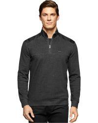 Calvin Klein   Solid Quarter-zip Sweatshirt   Lyst