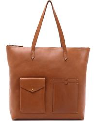 Madewell - The Zip Transport Tote With Pocket - English Saddle - Lyst
