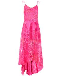 Preen By Thornton Bregazzi Avery Flower Devoré Silk Dress - Lyst