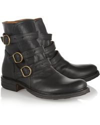 Fiorentini + Baker Edwin Eternity Buckled Leather Ankle Boots - Lyst