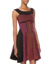 M Missoni Striped Paneled Godet Dress - Lyst
