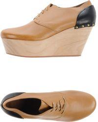 Vic Matie' Lace-Up Shoes beige - Lyst