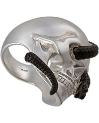 Theo Fennell - Two-tone Snake & Skull Ring - Lyst