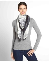 Balenciaga Ivory and Marbled Grey Silkwool Scarf - Lyst