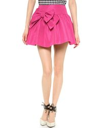 RED Valentino Bow Skirt - Lyst