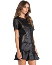 LaPina by David Helwani - Valerie Leather Top - Lyst