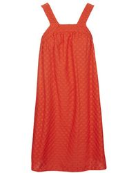 Topshop Broderie Pinafore Smock Dress - Lyst