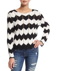 Frame Denim   Le Crochet Zig Zag Sweater   Lyst