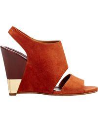 Chloé - Metal-trimmed Eliza Wedge Sandals - Lyst