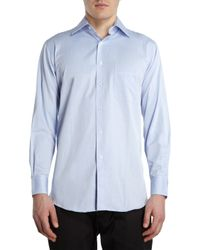 Barneys New York Solid Button Front Shirt - Lyst