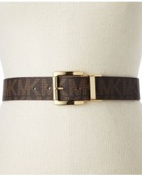 Michael Kors Michael Reversible Logo Leather Belt - Lyst