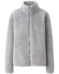 Uniqlo Fluffy Fleece Long Sleeve Full Zip Jacket - Lyst
