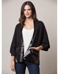 525 America Leather Trim Kimono - Lyst