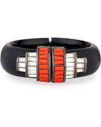 Alexis Bittar Crystal Baguette Barrel Cuff Bracelet - Lyst