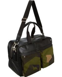 Jack Spade Leather and Camo Split Briefcase - Lyst