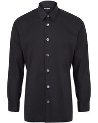 Raf Simons Large Button Cotton Shirt - Lyst