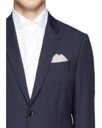 Title Of Work - 'b & W Leaves' Print Pocket Square - Lyst