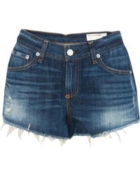 Rag & Bone Cut Off Jean Short - Lyst