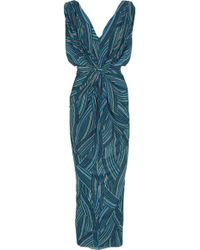 T-bags Printed Stretch Jersey Maxi Dress - Lyst