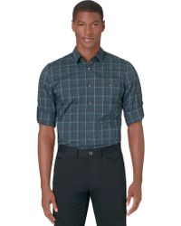 Calvin Klein Slim Fit Medium Plaid Sport Shirt - Lyst