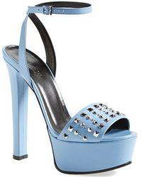 Gucci 'Leila' Studded Platform Sandal - Lyst